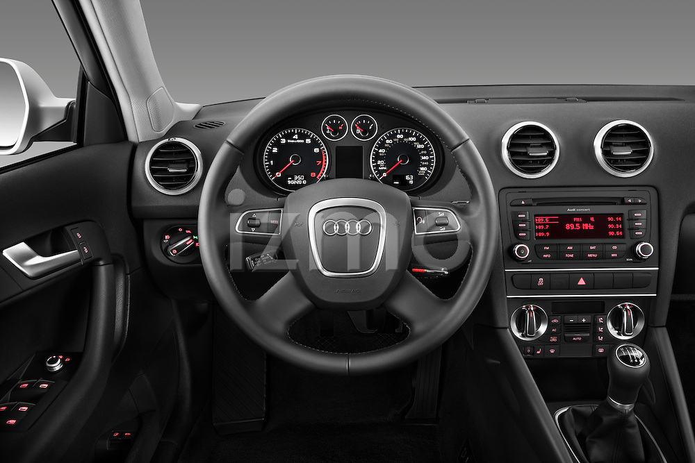 Steering wheel view of a 2003 - 2012 Audi A3 Premium Sportback Hatchback.