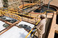 "Südasien Asien Indien IND Madhya Pradesh Indore , Textilfabrik Maral Overseas , Klaeranlage der Textilfaerberei - Textilindustrie xagndaz | .South Asia India , treatment plant of textile unit of textile factory maral Overseas near Indore.  -  textile industry environment .| [ copyright (c) Joerg Boethling / agenda , Veroeffentlichung nur gegen Honorar und Belegexemplar an / publication only with royalties and copy to:  agenda PG   Rothestr. 66   Germany D-22765 Hamburg   ph. ++49 40 391 907 14   e-mail: boethling@agenda-fototext.de   www.agenda-fototext.de   Bank: Hamburger Sparkasse  BLZ 200 505 50  Kto. 1281 120 178   IBAN: DE96 2005 0550 1281 1201 78   BIC: ""HASPDEHH"" ,  WEITERE MOTIVE ZU DIESEM THEMA SIND VORHANDEN!! MORE PICTURES ON THIS SUBJECT AVAILABLE!! INDIA PHOTO ARCHIVE: http://www.visualindia.net ] [#0,26,121#]"