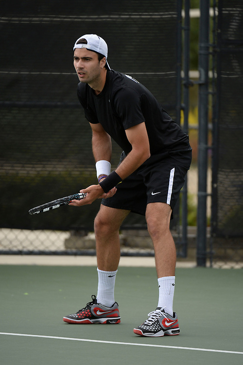April 24, 2013; San Diego, CA, USA; Portland Pilots player Alex Ferrero during the WCC Tennis Championships at Barnes Tennis Center.