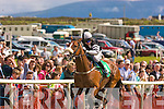 "3124-3127.---------.Winning smile.-------------.Jockey Gaven Sheehan on ""Che Guevara"" about to pass the finish post to win the Guinness Mile Cup race at the Dingle races last Saturday."