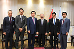Palestinian Prime Minister Mohammad Ishtayeh meets with delegation of the Japanese House of Representatives, in the West Bank city of Ramallah, August 18, 2019. Photo by Prime Minister Office