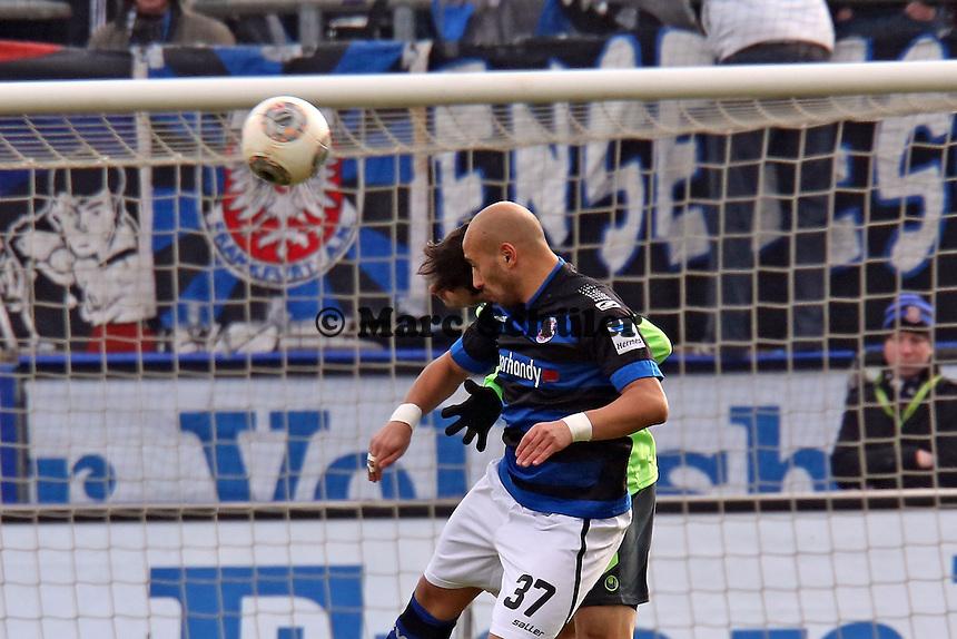 Kopfball Zafer Yelen (FSV) - FSV Frankfurt vs. TSV 1860 München Frankfurter Volksbank Stadion