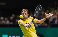 Rotterdam, The Netherlands, 17 Februari 2019, ABNAMRO World Tennis Tournament, Ahoy, Semis, Stan Wawrinka (SUI),<br /> Photo: www.tennisimages.com/Henk Koster