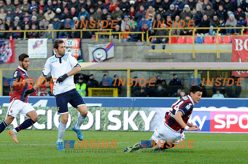Gol Senad Lulic Lazio Goal celebration <br /> Bologna 17-01-2016 Stadio Dall'Ara Football Calcio Serie A 2015/2016 Bologna - Lazio Foto Insidefoto
