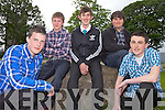 STUDENTS: At the Presentation Secondary School Milltown awards night for Transition Years last Tuesday evening were, l-r: Sam Fagan, David Coffey, Sam Moriarty, Sean Murray, Owen O'Connor.