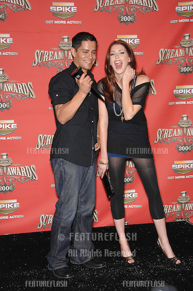 JAY HERNANDEZ & DIORA BAIRD at the Spike TV Scream Awards 2006 at the Pantages Theatre, Hollywood..October 7, 2006  Los Angeles, CA.Picture: Paul Smith / Featureflash