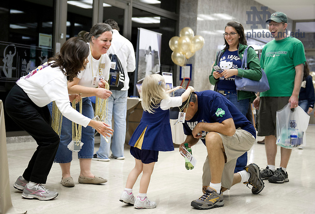Sept. 20, 2013; The 50th anniversary celebration of the Hesburgh Library. Photo by Barbara Johnston/University of Notre Dame