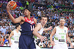 07.09.2014. Barcelona, Spain. 2014 FIBA Basketball World Cup, round of 8. Picture show A. Davis in action during game between Slovenia v Usa at Palau St. Jordi.