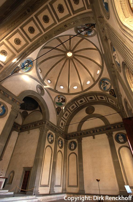 Kirche Santa Croce, Pazzi-Kapelle, Florenz, Toskana, Italien, Unesco-Weltkulturerbe