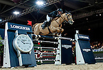 Gerco Schroder of Netherlands riding Glock'sPrince de Vaux  competes at the Longines Speed Challenge during the Longines Hong Kong Masters 2015 at the AsiaWorld Expo on 13 February 2015 in Hong Kong, China. Photo by Juan Flor / Power Sport Images