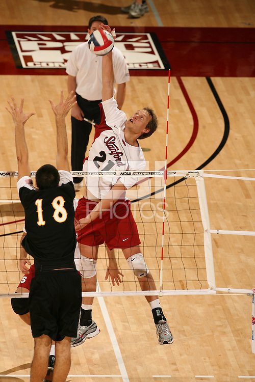 STANFORD, CA - JANUARY 30:  Spencer McLachlin of the Stanford Cardinal during Stanford's 3-2 win over the Long Beach State 49ers on January 30, 2009 at Maples Pavilion in Stanford, California.