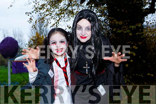 Ruth Lynch and Caroline Lynch enjoying the spooktacular parkrun in Fancy Dress on Saturday