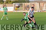 Action from the Premier A league final replay last Friday night at Mounthawk park, Tralee between killarney Celtic and Castleisland.