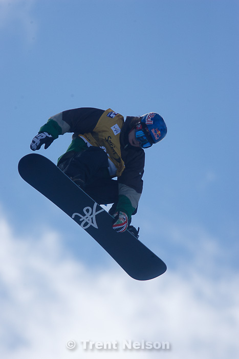 Trent Nelson  |  The Salt Lake Tribune.Louie Vito at the FIS Snowboard World Cup Friday, February 1, 2013 in Park City.