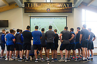 A general view of a Bath Rugby team meeting. Bath Rugby pre-season training session on July 28, 2017 at Farleigh House in Bath, England. Photo by: Patrick Khachfe / Onside Images