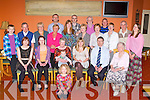 Avril Duggan, Gneeveguilla celebrated her 60th birthday with her family and friends in Darby O'Gills hotel, Killarney on Sunday front: Mary Lockley, seated: Rebecca Limrick, Louise Doolan, Avril Duggan, Issac Limrick, Edwina Duggan, Martin Duggan, Maura Duggan, standing: Ben Lockley, Donie Courtney, Noreen O'Sullivan, Simon Lockley, Anna Marie Courtney, Rachel Lockley, Ray Limrick, Mary Duggan, Tony Brooks, Deirdre Brooks, Paul Doolan, Pauline Darrer, Peter Darrer and Helen Duggan..