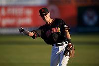 San Jose Giants second baseman Kyle McPherson (2) before a California League game against the Visalia Rawhide on April 12, 2019 at San Jose Municipal Stadium in San Jose, California. Visalia defeated San Jose 6-2. (Zachary Lucy/Four Seam Images)