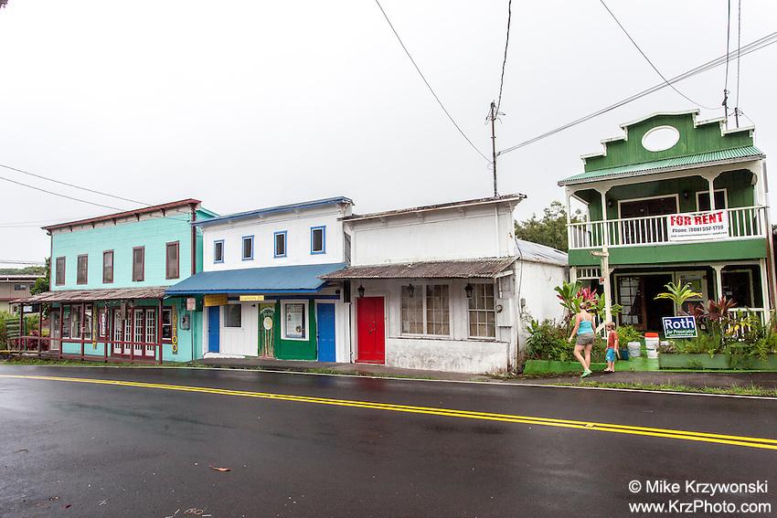 Old buildings in Pahoa Village, Big Island, Hawaii