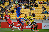 Eugene Galekovic ( GK ) during the A League - Wellington Phoenix v Adelaide United, Wellington, New Zealand on Sunday 30 March 2014. <br /> Photo by Masanori Udagawa. <br /> www.photowellington.photoshelter.com.