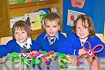 Enjoying school in Kiltallagh NS Castlemaine on Wednesday was Alazne Sertutya, Gavin Boyle and Elva Clendennen