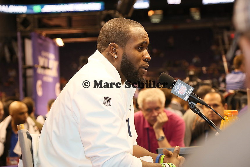 S Kam Chancellor (Seattle)  - Super Bowl XLIX Media Day, US Airways Center, Phoenix