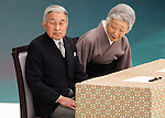 August 15, 2014, Tokyo, Japan - Japan observes the 69th anniversary of the nation's surrender in World War II with Emperor Akihito and Empress Michiko attending a memorial ceremony for the war dead held at Nippon Budokan arena on Friday, August 15, 2014. (Photo by AFLO)