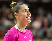 COLLEGE PARK, MD - FEBRUARY 03: Sara Vujacic #32 of Maryland during a game between Michigan State and Maryland at Xfinity Center on February 03, 2020 in College Park, Maryland.