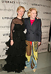 Senator Hillary Rodham Clinton ( Wearing a Scaasi Design ) & Liz Smith  attending  the Literacy Partners 20th  Annual Gala, AN EVENING OF READINGS at Lincoln Center, Honoring Tom Brokaw, Tim Russert and Jack Welch..May 3, 2004