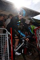 Christoher Froome after the stage of La Vuelta 2012 between La Robla and Lagos de Covadonga.September 2,2012. (ALTERPHOTOS/Paola Otero) /NortePhoto.com<br /> <br /> **CREDITO*OBLIGATORIO** <br /> *No*Venta*A*Terceros*<br /> *No*Sale*So*third*<br /> *** No*Se*Permite*Hacer*Archivo**<br /> *No*Sale*So*third*