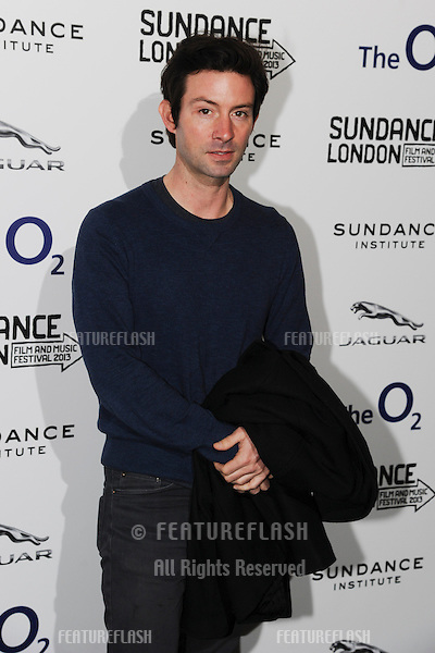 "Shane Carruth arriving for screening of ""Upstream Colour"" as part of the Sundance London Festival 2013 at the O2, Greenwich, London. 26/04/2013 Picture by: Steve Vas / Featureflash"