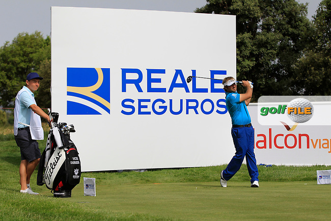Victor Dubuisson (FRA) on the 6th tee during the Pro-Am of the Open de Espana  in Club de Golf el Prat, Barcelona on Wednesday 13th May 2015.<br /> Picture:  Thos Caffrey / www.golffile.ie