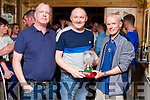 The Abbeyfeale United Presentation Awards was held last Saturday night in D.P. Lyons Bar, the final award of the night went to Joe Weir, who was chosen as Club Person of the Year for his outstanding work during the season in managing the B-team & helping to improve the club's underage structure. <br /> Awards <br /> Joe Weir Abbeyfeale United Club Person of the Year receiving his award from club member Rob Cummins & Club Chairman Frank Nelligan.