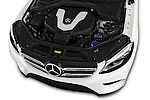 Car Stock 2016 Mercedes Benz GLE-Class 5 Door SUV Engine  high angle detail view