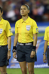 20 October 2014: Referee Quetzali Alvarado (MEX). The United States Women's National Team played the Haiti Women's National Team at RFK Memorial Stadium in Washington, DC in a 2014 CONCACAF Women's Championship Group A game, which serves as a qualifying tournament for the 2015 FIFA Women's World Cup in Canada. The U.S. won the game 6-0.