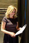Hempstead, New York, USA. January 1, 2018. LAURA GILLEN reviews her Inaugural Address before start of Swearing-In ceremony of GILLEN as Hempstead Town Supervisor, and Sykvua Cabana as Hempstead Town Clerk, at Hofstra University. It was first time a Democrat became Town of Hempstead Supervisor in over a century.