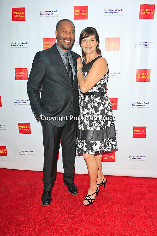 LOS ANGELES - JUN 7: Joe Morton, Christine Lietz at the Actors Fund's 19th Annual Tony Awards Viewing Party at the Skirball Cultural Center on June 7, 2015 in Los Angeles, CA