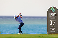 Paul Waring (ENG) on the 17th tee during the 1st round of  the Saudi International powered by Softbank Investment Advisers, Royal Greens G&CC, King Abdullah Economic City,  Saudi Arabia. 30/01/2020<br /> Picture: Golffile | Fran Caffrey<br /> <br /> <br /> All photo usage must carry mandatory copyright credit (© Golffile | Fran Caffrey)