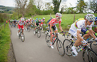 Jelle Vanendert (BEL/Lotto-Belisol) behind world champion Rui Costa (POR/Lampre) up the &lsquo;steepest climb&rsquo; in Holland: Keutenberg (max 22%)<br /> <br /> Amstel Gold Race 2014