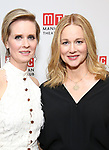 Cynthia Nixon and Laura Linney attending the Broadway Opening Night After Party for 'The Little Foxes' at the Copacabana on April 19, 2017 in New York City.