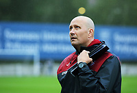 Pictured: Swansea U23 manager Cameron Toshack. Friday 11 August 2017<br /> Re: Premier League 2, Division 1, Swansea City U23 v Liverpool U23 at the Landore Training Ground, Swansea, UK
