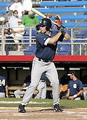 July 3, 2004:  Mike Butia of the Mahoning Valley Scrappers, Short-Season Low-A NY-Penn League affiliate of the Cleveland Indians, during a game at Russell Diethrick Park in Jamestown, NY.  Photo by:  Mike Janes/Four Seam Images