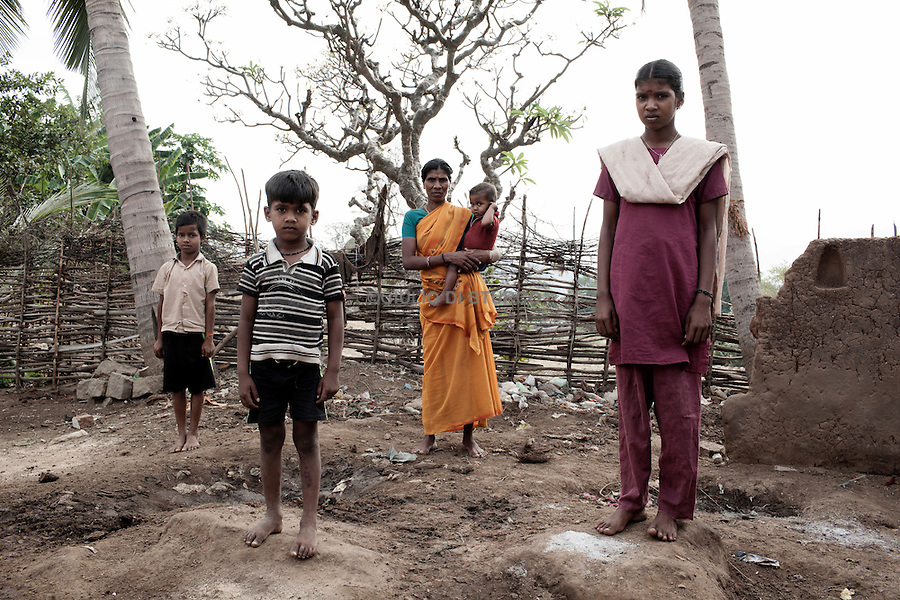 """TAMIL NADU, INDIA MARCH 2014:<br />Amutha 13,she was sold by her mother to work in the cotton fields and saved by the NGO """"terre des home trust"""" 03, March 2014 @ GDS"""