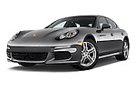 Stock pictures of low aggressive front three quarter view of a 2015 Porsche Panamera - 5 Door Hatchback 2WD Low Aggressive