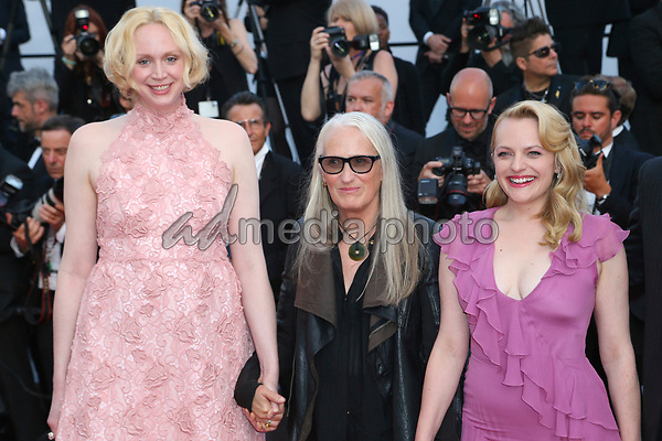 """24 May 2017 - Cannes, France - Gwendoline Christie, Elisabeth Moss, Jane Campion . """"The Beguiled"""" Premiere - The 70th Annual Cannes Film Festival. Photo Credit: Georg Wenzel/face to face/AdMedia"""