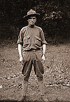 Petersburg VA:  To increase American forces, Woodrow Wilson raised the age limit for service in the armed forces to 40 years old. Brady Stewart enlisted in the Army at age 36..Brady Stewart in uniform at bootcamp,  80th Division encampment - 1918.  Brady Stewart enlisted in 1917 and was discharged in 1918.
