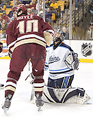 Brian Boyle, Ben Bishop - The Boston College Eagles defeated the University of Maine Black Bears 4-1 in the Hockey East Semi-Final at the TD Banknorth Garden on Friday, March 17, 2006.