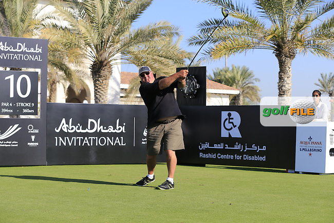 JP on the 10th tee to start his match during the 2015 Abu Dhabi Invitational Am-Am event held at Yas Links Golf Course, Abu Dhabi.: Picture Eoin Clarke, www.golffile.ie: 1/26/2015