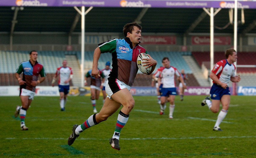 Photo: Richard Lane..Harlequins RL v Wakefield Trinity Wildcats. Engage Super League 2007. 14/04/2007. .Quins' Andy Smith runs in for a try.