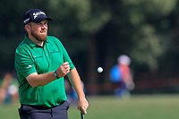 Shane Lowry (IRL) on the 2nd green during the 3rd round of the WGC HSBC Champions, Sheshan Golf Club, Shanghai, China. 02/11/2019.<br /> Picture Fran Caffrey / Golffile.ie<br /> <br /> All photo usage must carry mandatory copyright credit (© Golffile | Fran Caffrey)