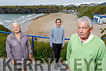 Local residents overlooking the Ladies Beach in Ballybunion, on Tuesday which lost it's Blue Flag status.<br /> Front right: Cllr Robert Beasley.<br /> Back l to r: Mary Horgan and Joshua O'Regan.